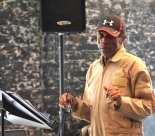 André De Shields in rehearsal for CONFESSIONS OF A P.I.M.P. at Victory Gardens Theater in Chicago on July 15, 2015. Photo by Lia Chang