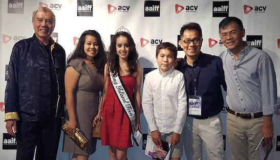 Opening night at New York's #AAIFF2015 at Asia Society on July 23, 2015. L-R: Jack Ong, Sophia Demetri Ngor, Brooke Demetri (Dr. Ngor's grandniece), Reed Dong-Gee, Arthur Dong, and Young Gee. Photo courtesy of The Killing Fields of Dr. Haing S. Ngor/Facebook