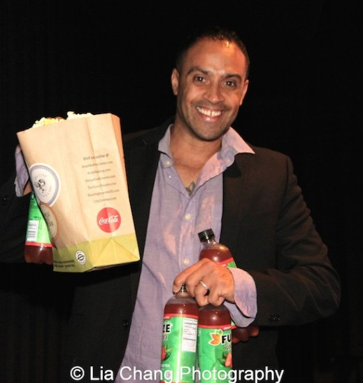 Sponsor Blue Michael of Blue Michael Cosmetics at the 11th Annual 72 Hour Shootout World Premiere Film Screening at Village Cinema East in New York on July 25, 2015. Photo by Lia Chang
