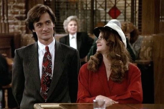 Roger Rees played the English tycoon Robin Colcord on Cheers, who also served as Kirstie Alley's fiancé. Credit: NBC
