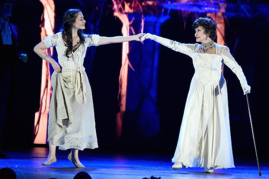NEW YORK, NY - JUNE 07:  Chita Rivera and Michelle Veintimilla perform in 'The Visit' onstage at the 2015 Tony Awards at Radio City Music Hall on June 7, 2015 in New York City.  (Photo by Theo Wargo/Getty Images for Tony Awards Productions)