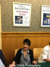 Actress Chita Rivera attends 'The Visit' Broadway cast performance and CD signing at Barnes & Noble, 86th & Lexington on July 9, 2015 in New York City. Photo by Lia Chang
