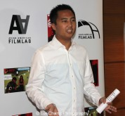 Christopher Lee of Adorama presented awards to the winning filmmakers at the 11th Annual 72 Hour Shootout Red Carpet Awards Ceremony and wrap party at The Azure in New York on July 25, 2015. Photo by Lia Chang