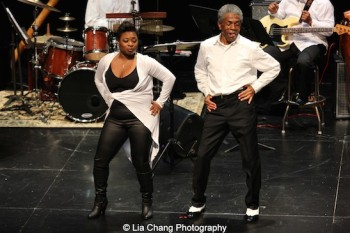 Donica Lynn and André De Shields in CONFESSIONS OF A P.I.M.P. in Victory Gardens' 2015 IGNITION Festival of New Plays in Chicago on July 16, 2015. Photo by Lia Chang