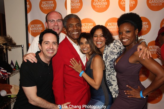 A Jungle Book reunion for Ed Kross, Doug Peck, André De Shields, Anjali Bhimani, Alka Nayyar and Monique Haley at the opening night party of Victory Gardens Theater's 2015 IGNITION Festival of New Plays in Chicago on July 16, 2015. Photo by Lia Chang