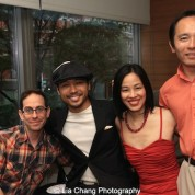 Garth Kravits, Jake Manabat, Lia Chang and Nick Sakai at the 11th Annual 72 Hour Shootout Red Carpet Awards Ceremony and wrap party at The Azure in New York on July 25, 2015.