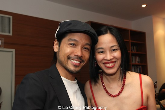 jake Manabat and Lia Chang at the 11th Annual 72 Hour Shootout Red Carpet Awards Ceremony and wrap party at The Azure in New York on July 25, 2015.