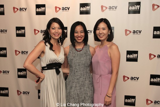 Film Lab President, actor Jennifer Betit Yen, Lia Chang and Shootout Coordinator, videographer and vocalist Youn Jung Kim at the 11th Annual 72 Hour Shootout World Premiere Film Screening at Village Cinema East in New York on July 25, 2015. Photo by GK