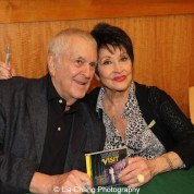 Composer John Kander and actress Chita Rivera attends 'The Visit' Broadway cast performance and CD signing at Barnes & Noble, 86th & Lexington on July 9, 2015 in New York City. Photo by Lia Chang