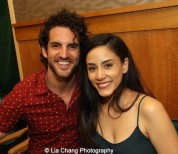 Actors John Riddle and Michelle Veintimilla attend 'The Visit' Broadway cast performance and CD signing at Barnes & Noble, 86th & Lexington on July 9, 2015 in New York City. Photo by Lia Chang