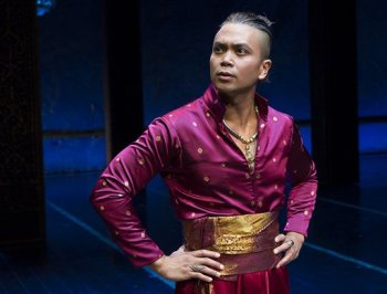 Jose llana as The King of Siam in The King and I. Photo by Paul Kolnik