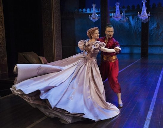 Kelli O'Hara and Jose Llana in The King and I. Photo by Paul Kolnik