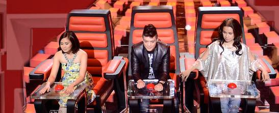'The Voice of the Philippines' coaches Sarah Geronimo, Bamboo and Lea Salonga. Courtesy of The Voice PH/Facebook