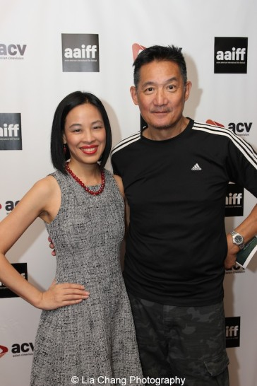 John Woo, Executive Director for Asian CineVision and Festival Director Judy Lei at the 38th Asian American International Film Festival at Village Cinema East in New York on July 25, 2015. Photo by Lia Chang
