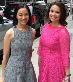 Lia Chang and Lea Salonga. Photo by Laura Heywood