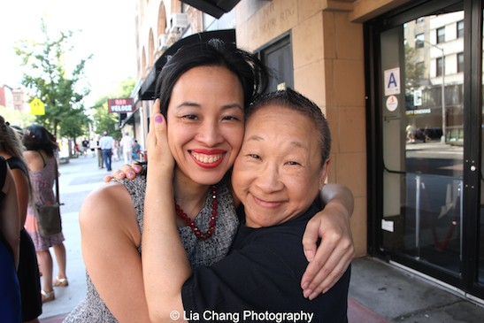 Lia Chang and Lori Tan Chinn at the 11th Annual 72 Hour Shootout World Premiere Film Screening at Village Cinema East in New York on July 25, 2015. Photo by Lia Chang