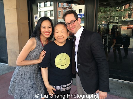 Lia Chang, Lori Tan Chinn and Garth Kravits at the 11th Annual 72 Hour Shootout World Premiere Film Screening at Village Cinema East in New York on July 25, 2015. Photo by Lia Chang