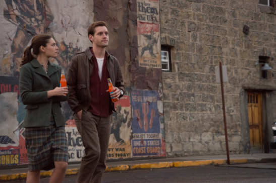 "Alexa Davalos and Luke Kleintank star in ""The Man In The High Castle."" (David Berg/Amazon Studios)"