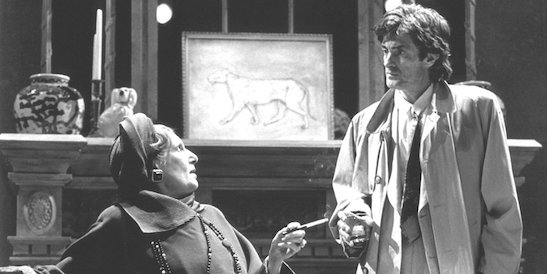 Nancy Marchand and Roger Rees in Playwrights Horizon's 1992 production of Jon Robin Baitz's The End of the Day. Credit: T. Charles Erickson