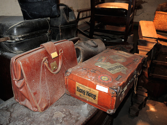 During WWII internment, the hotel owners and neighbors stored belongings in the hotel's basement. Photo credit: National Trust for Historic Preservation