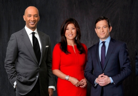 Byron Pitts, Juju Chang and Dan Harris co-anchor ABC's Nightline. Photo: ABC