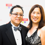 Robert Kawahara, EWP Board President, with wife Martie Quan at the Golden Anniversary Visionary Awards Dinner and Silent Auction on April 20,  2015 in Universal City. Photo courtesy of Michael Palma.