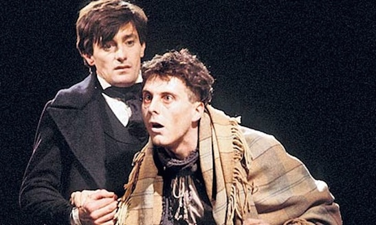 Roger Rees and David Threlfall in David Edgar's stage adaptation of Nicholas Nickleby. Photograph: Donald Cooper/Rex Features