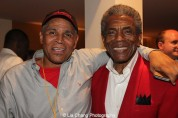 Ron OJ Parson and André De Shields at the opening night party of Victory Gardens Theater's 2015 IGNITION Festival of New Plays in Chicago on July 16, 2015. Photo by Lia Chang
