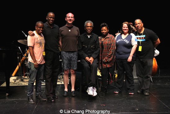 Samuel G. Roberson, Robert Reddrick, Doug Peck, Andre De Shields, Donica Lynn, Kimberly Lawson, Tony Mhoon during tech for CONFESSIONS OF A P.I.M.P. in Victory Gardens' 2015 IGNITION Festival of New Plays in Chicago on July 16, 2015. Photo by Lia Chang