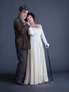 Roger Rees and Chita Rivera in Kander and Ebb's The Visit. Photo by Frank Ockenfels