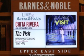 'The Visit' Broadway cast performance and CD signing at Barnes & Noble, 86th & Lexington on July 9, 2015 in New York City. Photo by Lia Chang