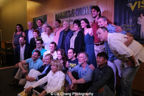 'The Visit' cast, creative and producing team at 'The Visit' Broadway cast performance and CD signing at Barnes & Noble, 86th & Lexington on July 9, 2015 in New York City. Photo by Lia Chang
