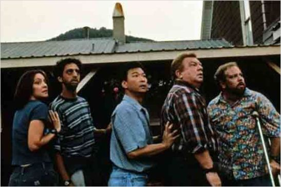 Dante's Peak : Arabella Field, Grant Heslov, Tzi Ma, Charles Hallahan, Kirk Trutner Copyright: Universal Studios