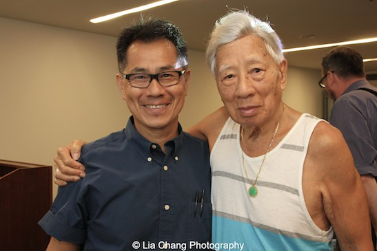 Arthur Dong with Wally Wong, brother of dancer Jadin Wong at MoCA in New York on July 26, 2015. Photo by Lia Chang