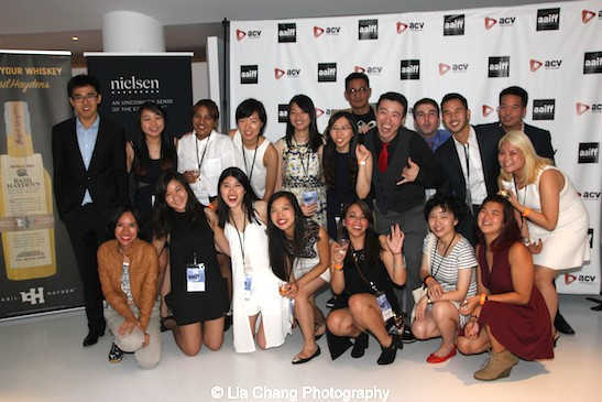 AAIFF 2015 staff and volunteers at the closing night party of the 38th Asian American International Film Festival at the Museum of the Moving Image in Astoria on August 1, 2015. Photo by Lia Chang