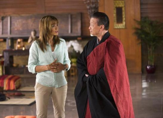 Grace Truman (Stephanie Szostak) and Zen Master (Tzi Ma). (c) USA Network