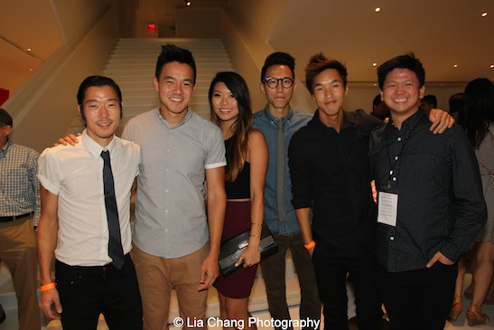 Aaron Yoo, and Wong Fu Productions' Philip Wang, guest, Chris Dinh, Wesley Chan, Taylor Chan at the closing night party of the 38th Asian American International Film Festival at the Museum of the Moving Image in Astoria on August 1, 2015. Photo by Lia Chang