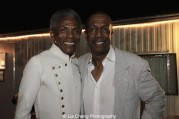 André De Shields and George Faison at The Wiz is 40 at Rumsey Playfield, Summerstage in New York on August 12, 2015. Photo by Lia Chang