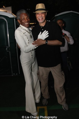 André De Shields and Warrington Hudlin at The Wiz is 40 at Rumsey Playfield, Summerstage in New York on August 12, 2015. Photo by Lia Chang