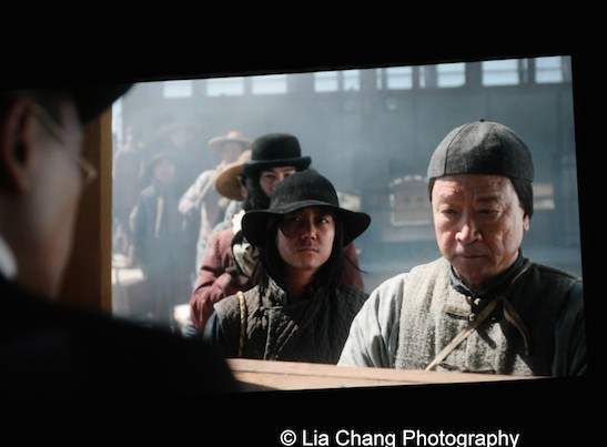 Tzi Ma and Angela Zhou play father and daughter in AMC's Hell on Wheels. Photo by Lia Chang
