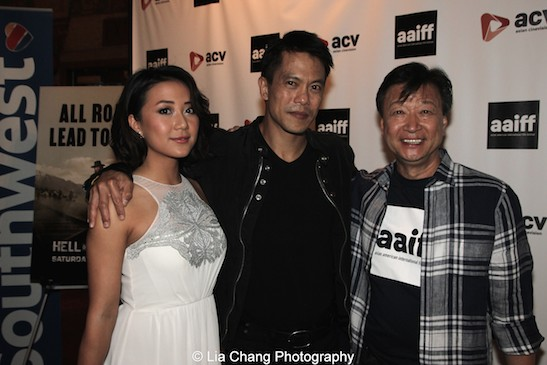 Byron Mann, Tzi Ma, Angela Zhou attend the AAIFF2015 screening of AMC's Hell on Wheels at Village East Cinema in New York on July 31, 2015. Photo by Lia Chang