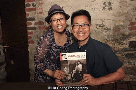 Arthur Dong and Broadway performer Baayork Lee at MoCA in New York on July 26, 2015. Lee originated the role of Connie in the Chorus Line and is currently executive artistic director of the National Asian Artists Project. Photo by Lia Chang