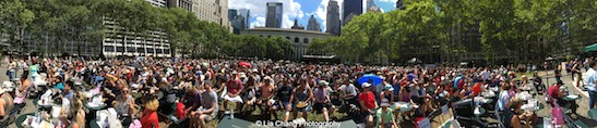 A great turnout for Broadway in Bryant Park in New York on August 13, 2015. Photo by Lia Chang