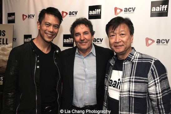 Byron Mann, John Wirth and Tzi Ma attend the AAIFF2015 screening of AMC's Hell on Wheels at Village East Cinema in New York on July 31, 2015. Photo by Lia Chang