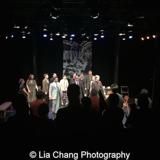 Curtain Call of the opening performance of The Report at The Lynn Redgrave Theater at Culture Project in New York on August 15, 2015. Photo by Lia Chang