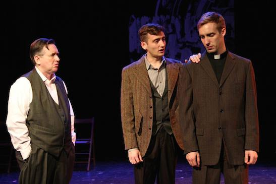 David Wells, Jonathan Stephens and James Physick in The Report. Photo by Lia Chang