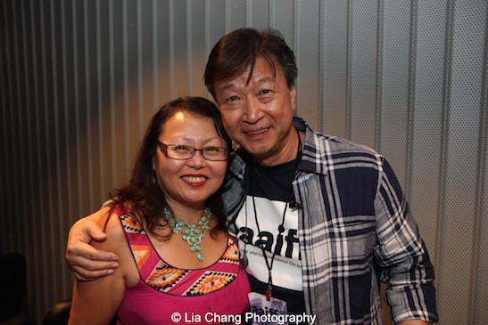 Judge Doris Ling-Cohan and Tzi Ma attend the AAIFF2015 screening of AMC's Hell on Wheels at Cinema Village East in New York on July 31, 2015. Photo by Lia Chang