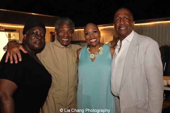 Ebony Jo-Ann, André De Shields, Dee Dee Bridgewater and George Faison after the #summerstageis30 performance of #thewizis40 at Rumsey Playfield in New York on August 12, 2015. Photo by Lia Chang