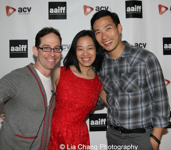 Film Lab's 72 Hour Shootout Winners Garth Kravits and Lia Chang (HIDE AND SEEK) and Grant Chang (FINDING YOU) at the closing night party of the 38th Asian American International Film Festival at the Museum of the Moving Image in Astoria on August 1, 2015. Photo by Lia Chang