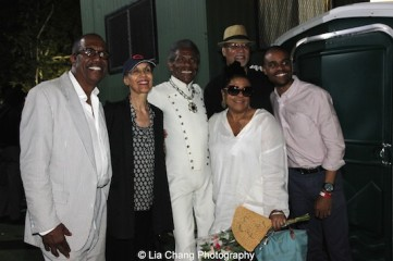 George Faison, Carmen de Lavallade, André De Shields, Kathleen Battle, Warrington Hudlin and guest at The Wiz is 40 at Rumsey Playfield, Summerstage in New York on August 12, 2015. Photo by Lia Chang